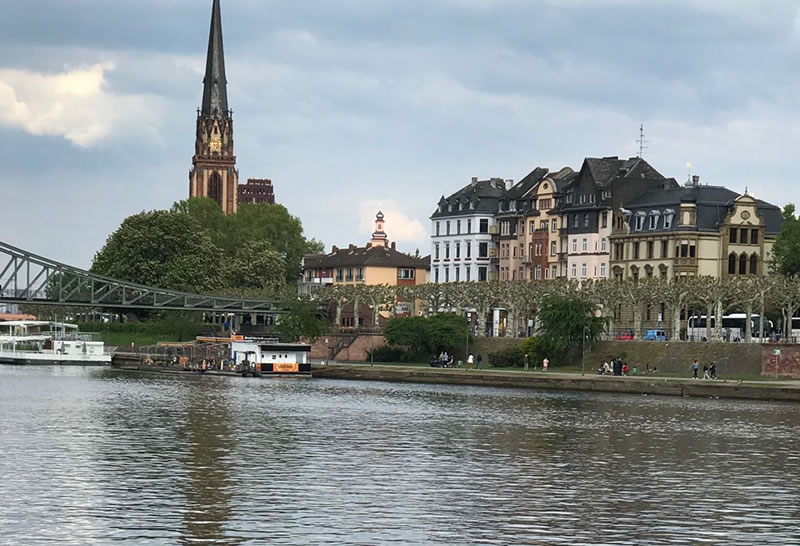 Frankfurt, Germany fromt he river