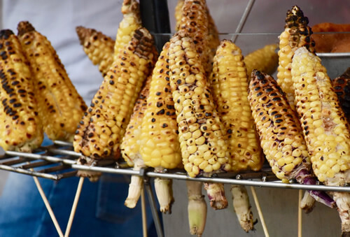 Roasted corn: National street food in Colombia