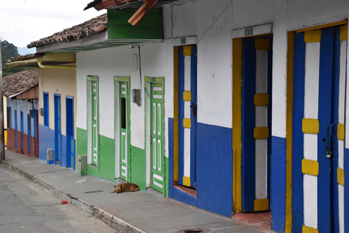Street in Pijao, Colombia: Slow City