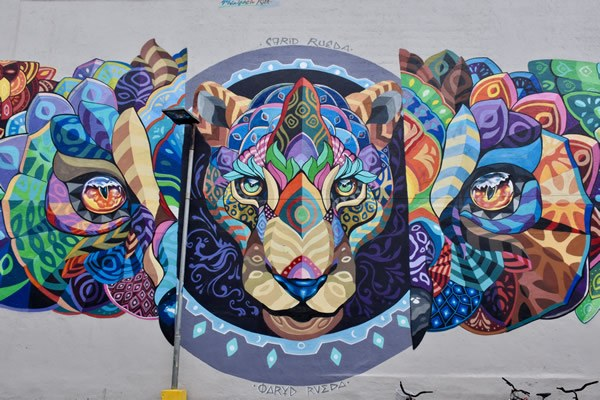 Street art in Jacó with Tiger