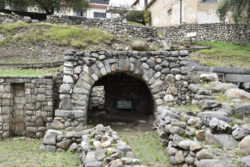 Ruins of an ancient Inca mill in Cuenca
