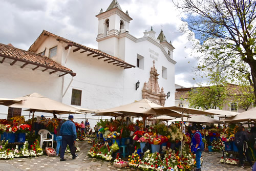 The market in Cuenca at the Plaza de Flores
