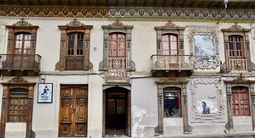 The elaborate woodwork of colonial houses