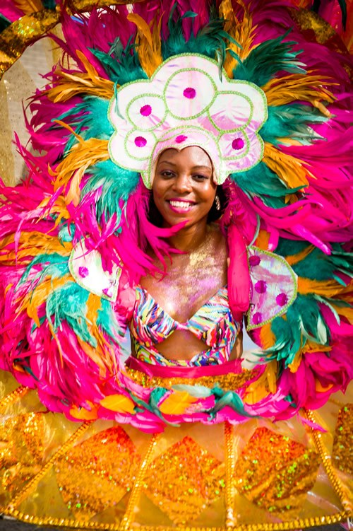 Grenada's Carnival, SpiceMas, is celebrated in August