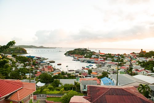 St. George's in Grenada and habor