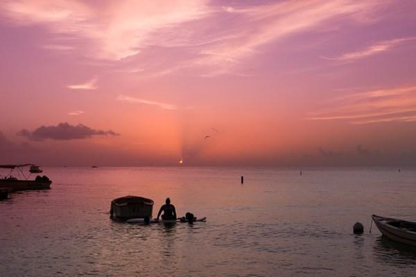 Sunset over Grand Anse beach, Grenada