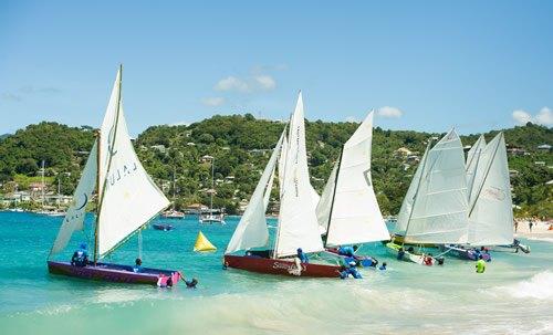 The Workboat Regatta is in Grenada is a fierce sailing race