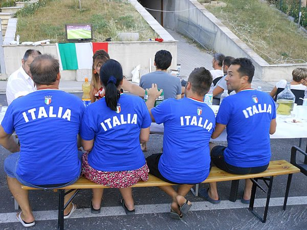 World Cup neighborhood party in Italy