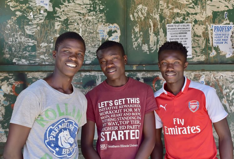 Sylvester, Jacktone, and Denis: promising Kibera youngsters serving as role models for a next generation