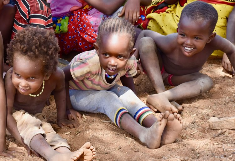 kids are always excited during our visits in Kenya