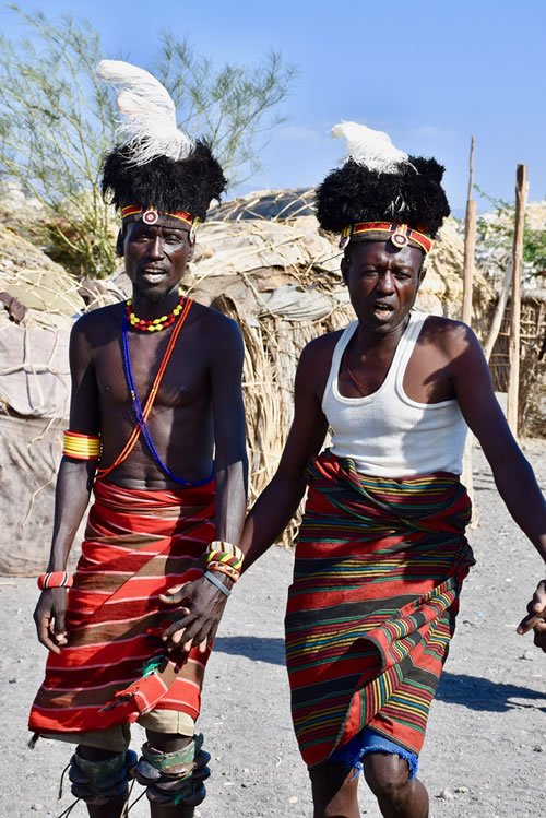 Turkana tribespeople