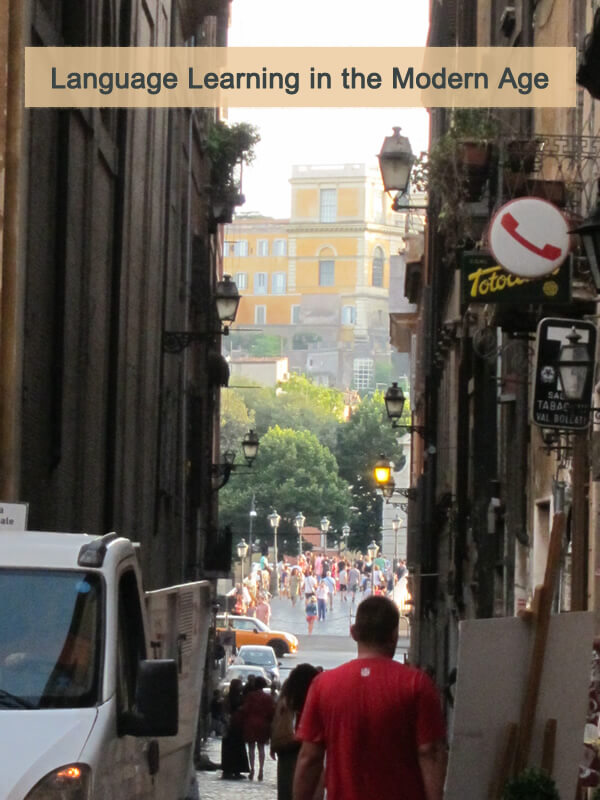 Language learning abroad through immersion in Rome
