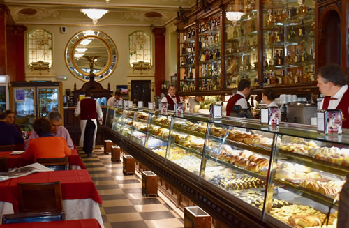 Interior of 'Versailles' pastry shop in Lisbon