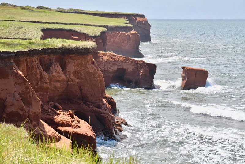 Magdalen Islands' coves and caves