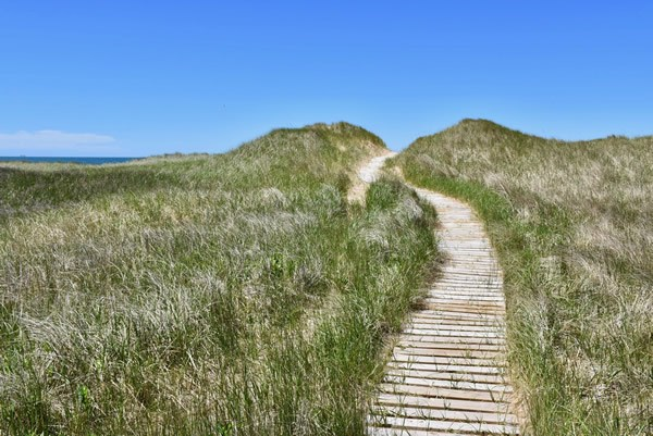 Magdalen Islands' beach path