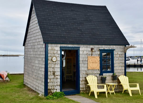 Typical dwelling in the Magdalen Islands