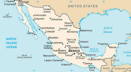 Guajaca Mexico Map.Spanish Language Schools In Mexico Study Spanish In Mexico
