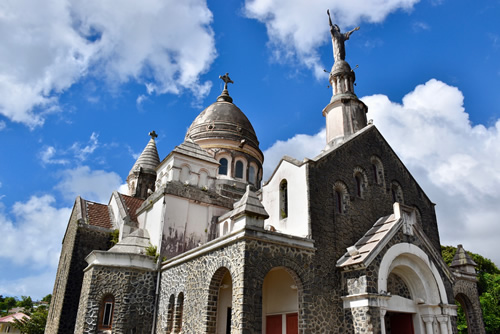 Balata church, modeled after the Sacré Coeur in Paris