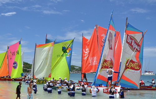 Yole regatta around the island