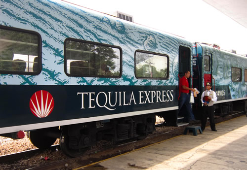 Tequila Express train ready to depart from Guadalajara, Jalisco
