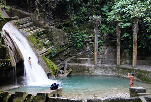 Waterfall and swimming hole in Las Pozas, Huasteca Potosina