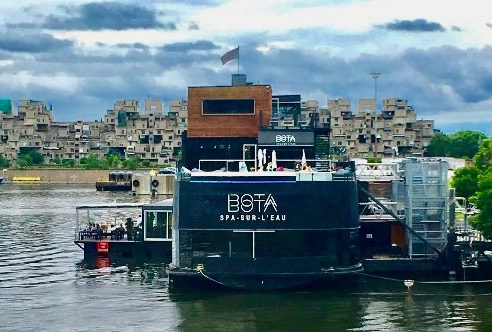 Bota Bota, a floating spa in Old Montreal