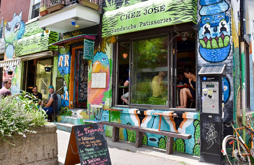 Montreal in the summer is full of great places to eat
