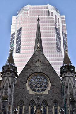 Montreal architecture juxtapose old with new