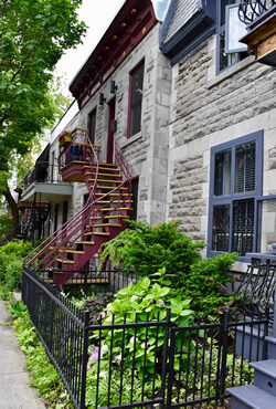 Victorian architecture in Montreal: Outdoor winding staircases