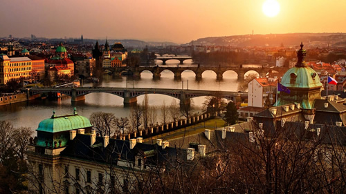 Prague Panorama for cultural travel