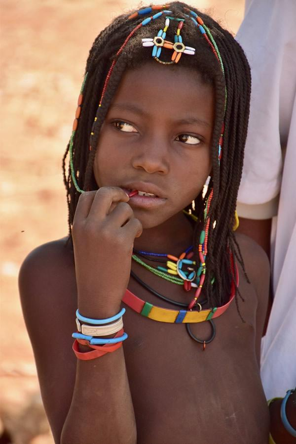 Teen girls in Angola