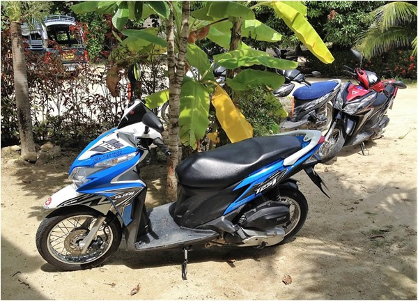 Motorbikes make getting around Thailand easy and fun