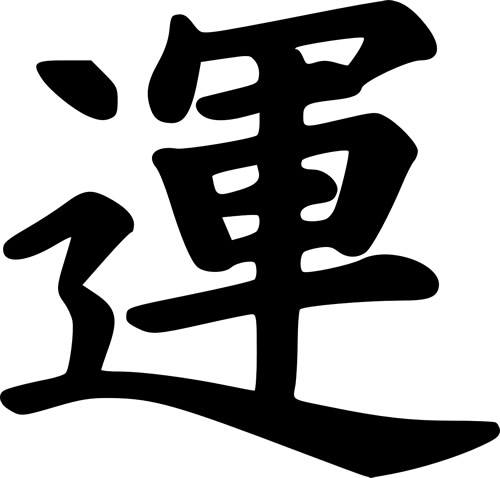 Japanese character for 'Luck.'