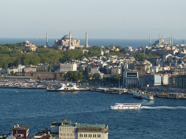 Istanbul, Turkey with mosques