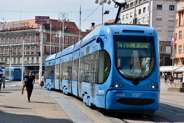 The blue trams of Zagreb