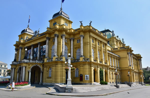 The 1895 Neo Baroque National Theatre, Zagreb's theatre, opera, and ballet house