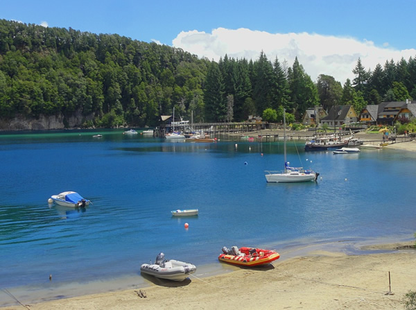 Boats on a lake in Bariloche