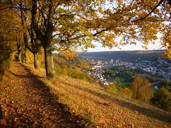 View of Eichst�tt, Bavaris, Germany in fall