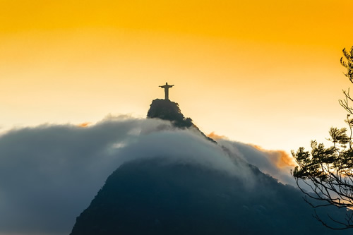 The iconic Christ the Redeemer statue above Rio