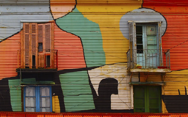 One of many colorful districts in Buenos Aires
