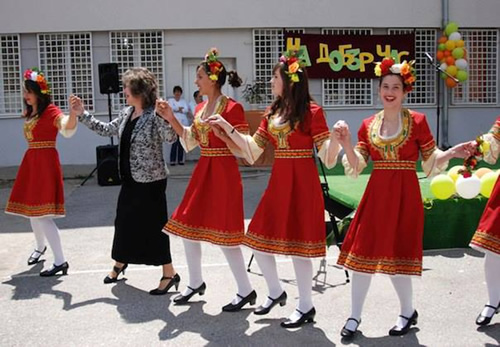 Students dancing in Smolyan, Bulgaria