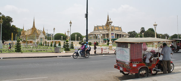 A typical scene in Phnom Penh