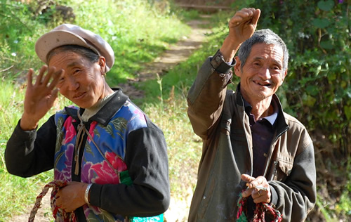 Friendly locals in South China