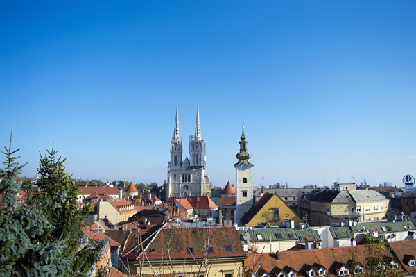 Skyline of Zagreb, Croatia