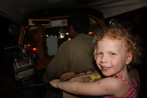 Daughter in Bangalore in auto-rickshaw