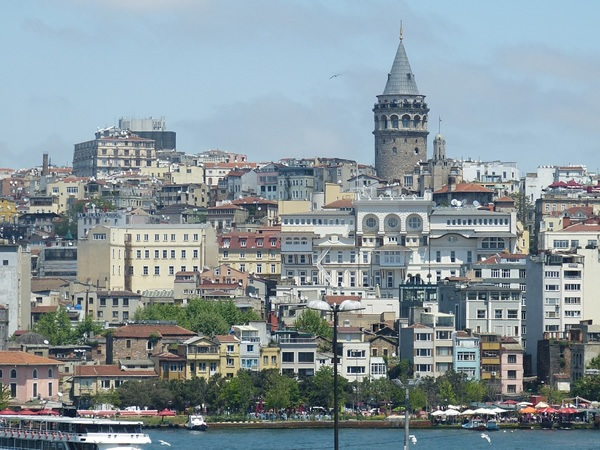 The old town and the Galata