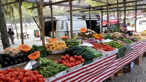 The farmer's market in Rio, Brazil