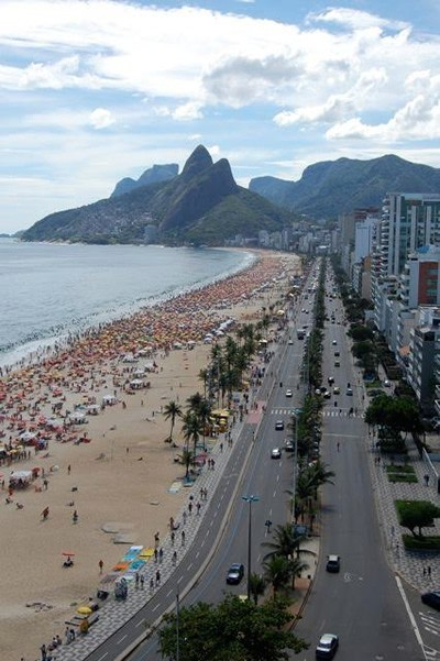 Ipanema beach in Rio, Brazil