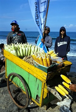 Oceanside corn vendors