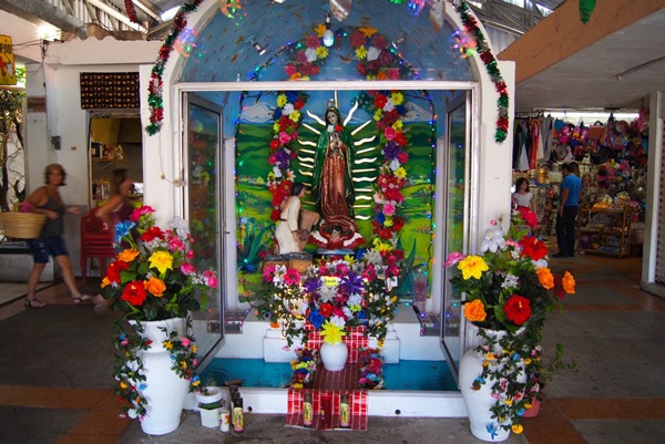 Altar honoring the Virgin Mary in Cozumel from Expatriate Contest-Winning Essay '10 Tips for Adjusting to Life in Mexico.'